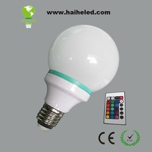 led high bulb e27 Color change with remote controller CE/RoHS certified