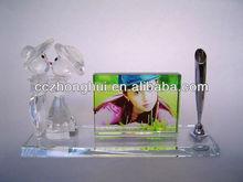 Crystal photo frame, crystal office set