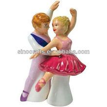 wedding favor handpaint ceramic salt pepper shaker