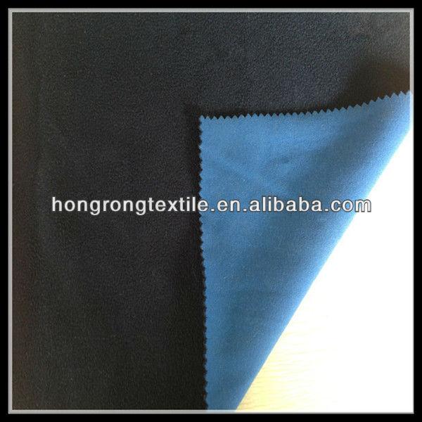 blue polar fleece and plain cloth bonded fabric