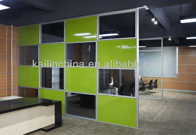 Modern design glass room dividers office partition wall for Modern office partition design