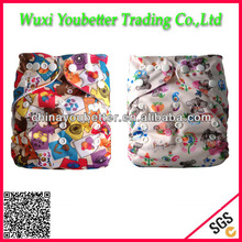 Washable and Reusable Baby Cloth Diapers One Size Charcoal Bamboo Insert