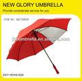 Direto auto vara abrir vermelho personalizado guarda-chuva