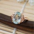 تصميم عصري جديد 18k أحجار كريمة خاتم الذهب مع الزبرجد