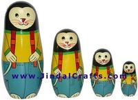 Nested Dolls - Handmade Wooden India Dolls Art Home Decoration Wooden Craft