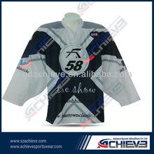 OEM factory custom design ice hockey uniform/hockey jerseys latest sample