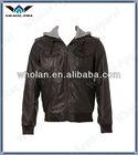 2014 Wholan Hot fashion leather jacket, leather coat men, mens fashion hooded coat