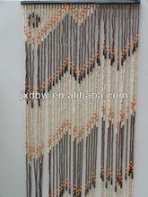 Natural Handmade Decorative Wood Bead Curtain