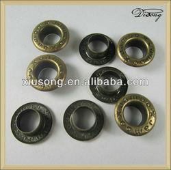 antique brass metal garment eyelet
