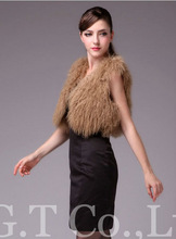 0014 Winter sheep fur vest gilets sleeveless shawls shrug clotes coat vests