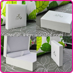 Elegance white printed luxury jewelry gift boxes ,flip top jewelry box manufacture