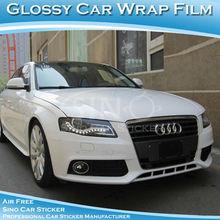SINO CAR STICKER Air Free Glossy White Auto Vinyl Sticker Film Car Wrap