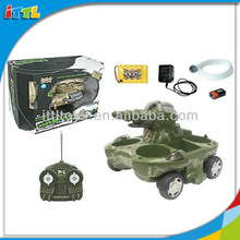 A302431 Playing On Land And Water Tank RC Plastic Toy Tank