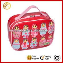 Fun color 600d polyester lunch cooler bag picnic bag for little girls