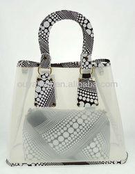 2014 summer beach bags silicon rubber transparent handbags jelly bag