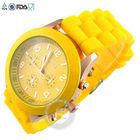 Promotion geneva Lady brand Watch Crystal Silicone Jelly watch for women wedding quartz watch