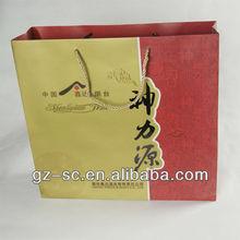 Custom printed wine paper bag for advertisement