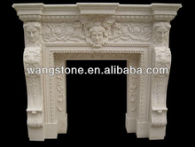 Carved contemporary fireplace surrounds