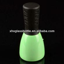15ml hot sale high quality UV soak off green nail gel glass bottle and black lid