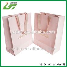 Chinese Custom Handmade pink paper small gift bags