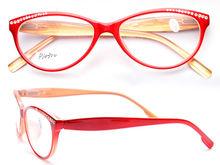 Cat eye with stone fashion lady reading glasses