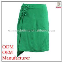 latest design formal wear silk wrap around skirt