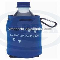 Blue neoprene drink bottle holder cooler bag with drawstring manufacture