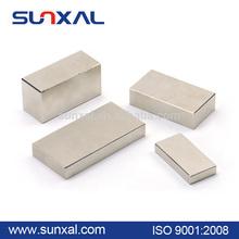 Special shape neodymium magnetic block with shining nickel plating