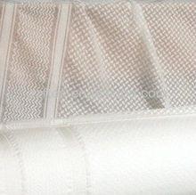 White 100% Polyester Arab Scarf