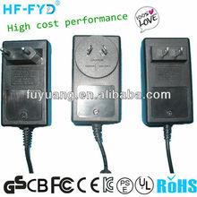 AC DC 2A 12V power adapter standard by UL SAA CSA BEAB PSE GS CE CB FCC