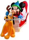 Christmas inflatable mikey and dog