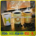 de papel descartáveis de café expresso e cappuccino copos