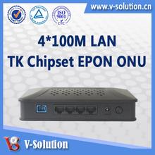 4*10/100M ports Optic Fiber Ethernet ONU,fiber optical network adapter