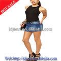 2014 sexy mulheres no short jeans saias de tecido( ldzq0125)