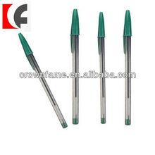 Green transparent fancy ballpoint writing pen