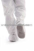 Disposable nonwoven anti-slip Shoe covers with PVC dots for food industry