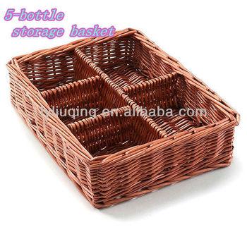 willow/wicker fruit/peanuts basket