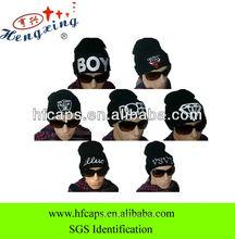 2013 men knitted beanie cap custom embroidered acrylic beanie cap
