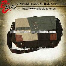 2014 New Design Vintage Canvas Messenger Bag/Fahion Men Cotton Fabric Canvas Shoulder Bag Wholesale Guangzhou