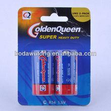 R14 zinc carbon battery 1.5v c