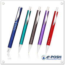 Click action pen - metal logo ball pen