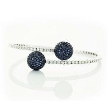 STAVIORI Diamond & Sapphire Bracelet 0799SB 18K Italian Exclusive Jewelry