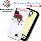 Sublimation TPU soft silicone case for Samsung S4 MINI