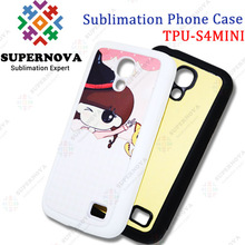Sublimation TPU soft silicone case for Samsung S4 MINI