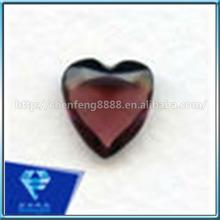 Heart shape amethyst glass stone gems