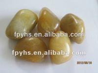 decorative yellow pebbles