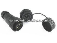 LLT-M22BS04 Screw Fixing Wires Rear Panel Mount Waterproof 4 pin connector