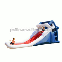 inflatable water slide with shark theme