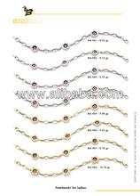 in oro massiccio 14k turco malocchio braccialetto di fascino tallone