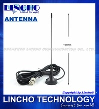 UHF mini magnetic base BNC connector 400MHz antenna
